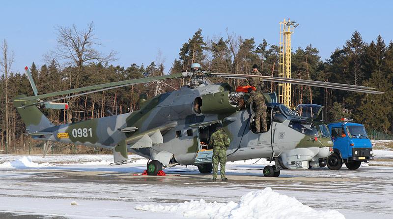 39e1699bb První vrtulníky Mi-24V jsou po generální opravě zpět v Náměšti – CZECH AIR  FORCE