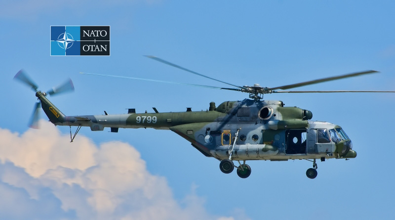 České vrtulníky participovaly na slavnostním průletu summitu NATO v Bruselu