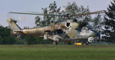 Piloti CLV se podílejí na záletech vrtulníků Mi-24 po generálních opravách v LOM Praha