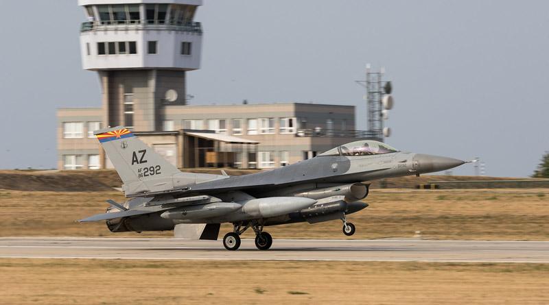 Arizonská garda v Náměšti – přílety letecké techniky na cvičení Ample Strike 2018