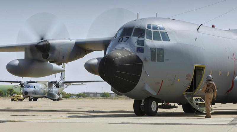 Výcviku transportního letectva ve španělské Zaragoze se opět účastnila CASA kbelské základny