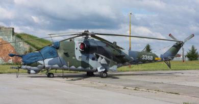 """LOM Praha dokončuje generální opravu dalšího vrtulníku Mi-35 """"3368"""""""