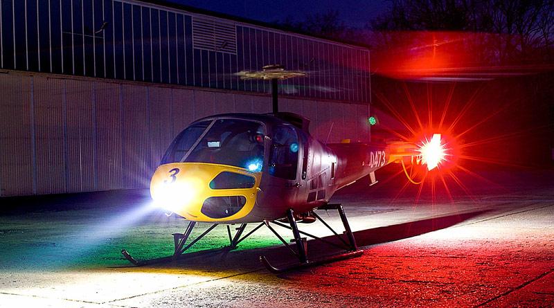 Přerovské letiště získalo novou světlotechniku umožňující provoz vrtulníků s NVG
