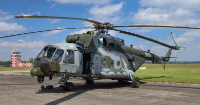 Armáda pořizuje další systémy vlastní ochrany pro vrtulníky Mi-171